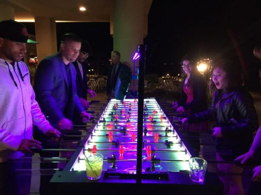 LED Foosball Table Rental Phoenix