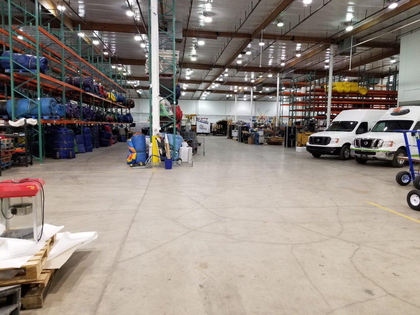 White Knight Party Rentals Warehouse